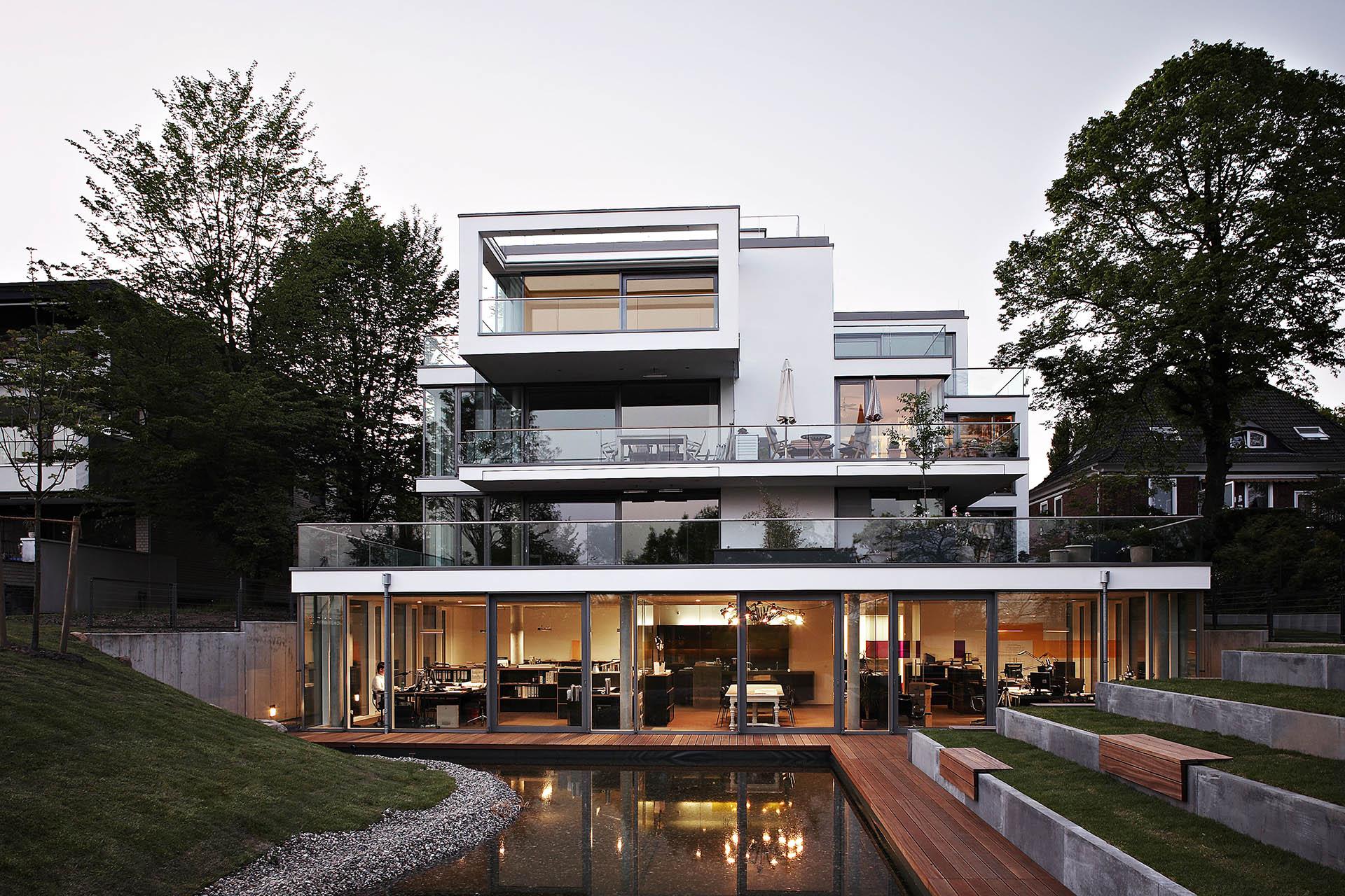 Elbchaussee 93 Gartenfassade